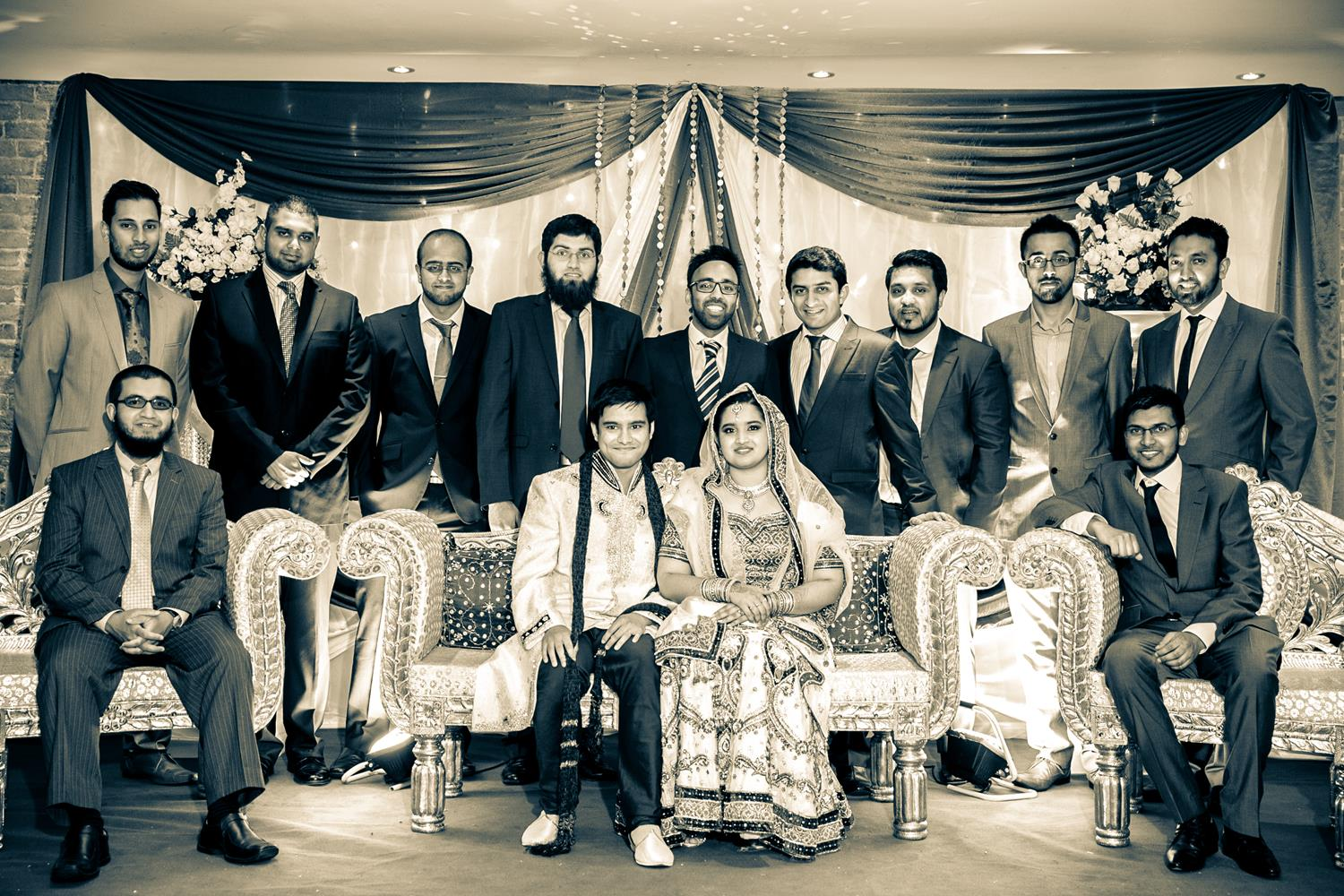 Wedding Photography of family and friends group by MAKSAM London Photographer