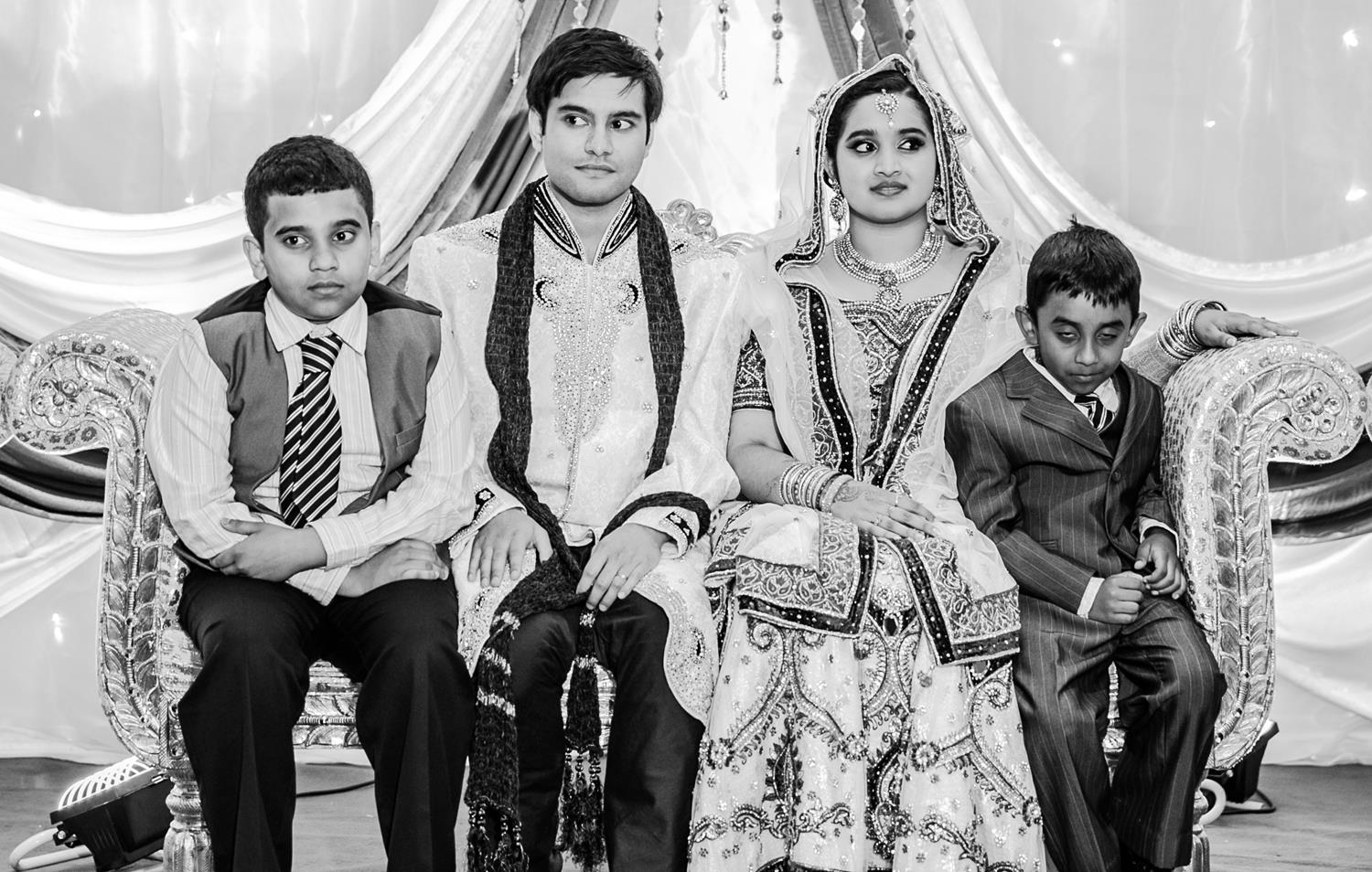 Black and White Wedding Photography of Bride and Groom by MAKSAM London Photographer