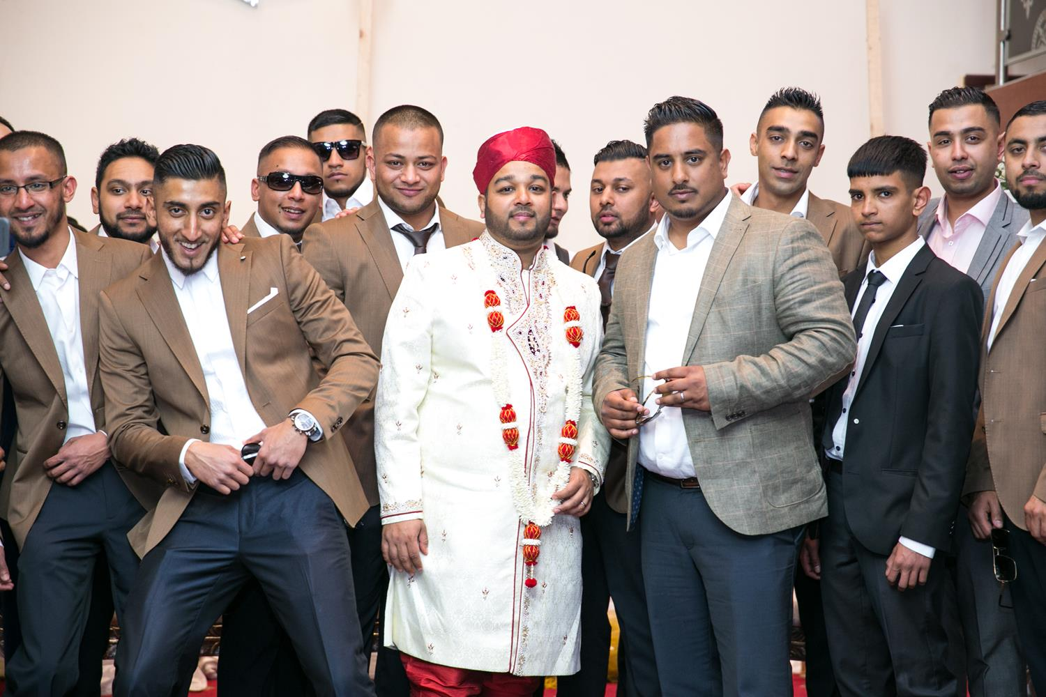 Wedding Photography of Groom and friends at Bengali Wedding by MAKSAM London Photographer