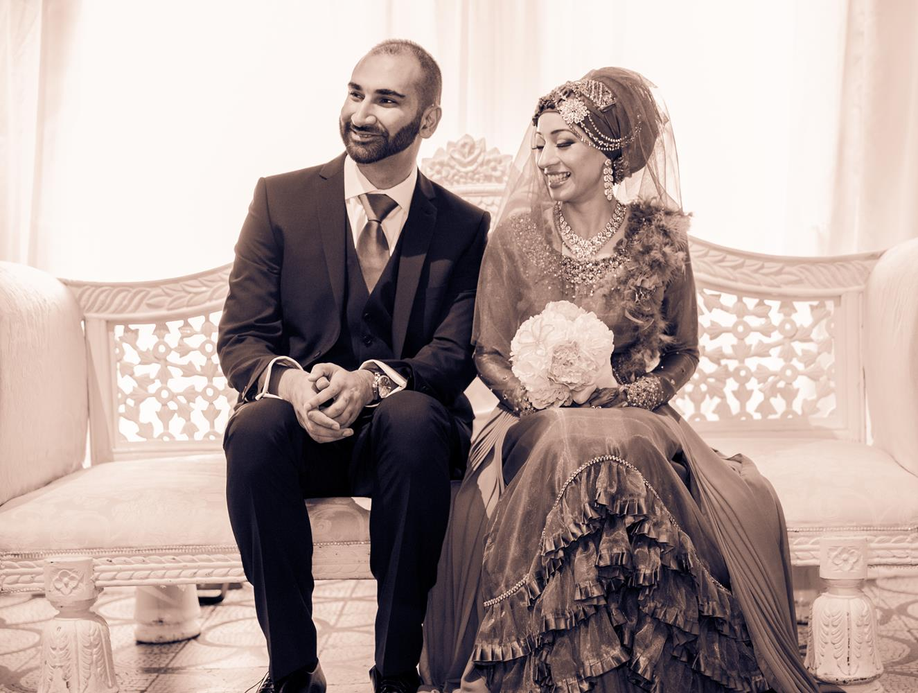 Wedding Photography of Indian Wedding couple by MAKSAM London Photographer