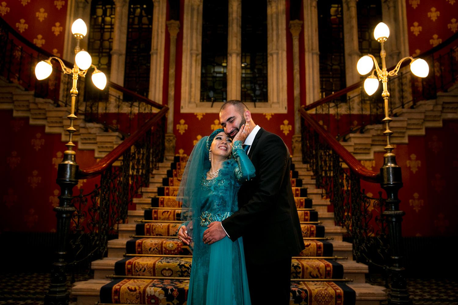 Wedding Photography of Asian Wedding couple by MAKSAM London Photographer at the Renaissance Hotel Kings Cross
