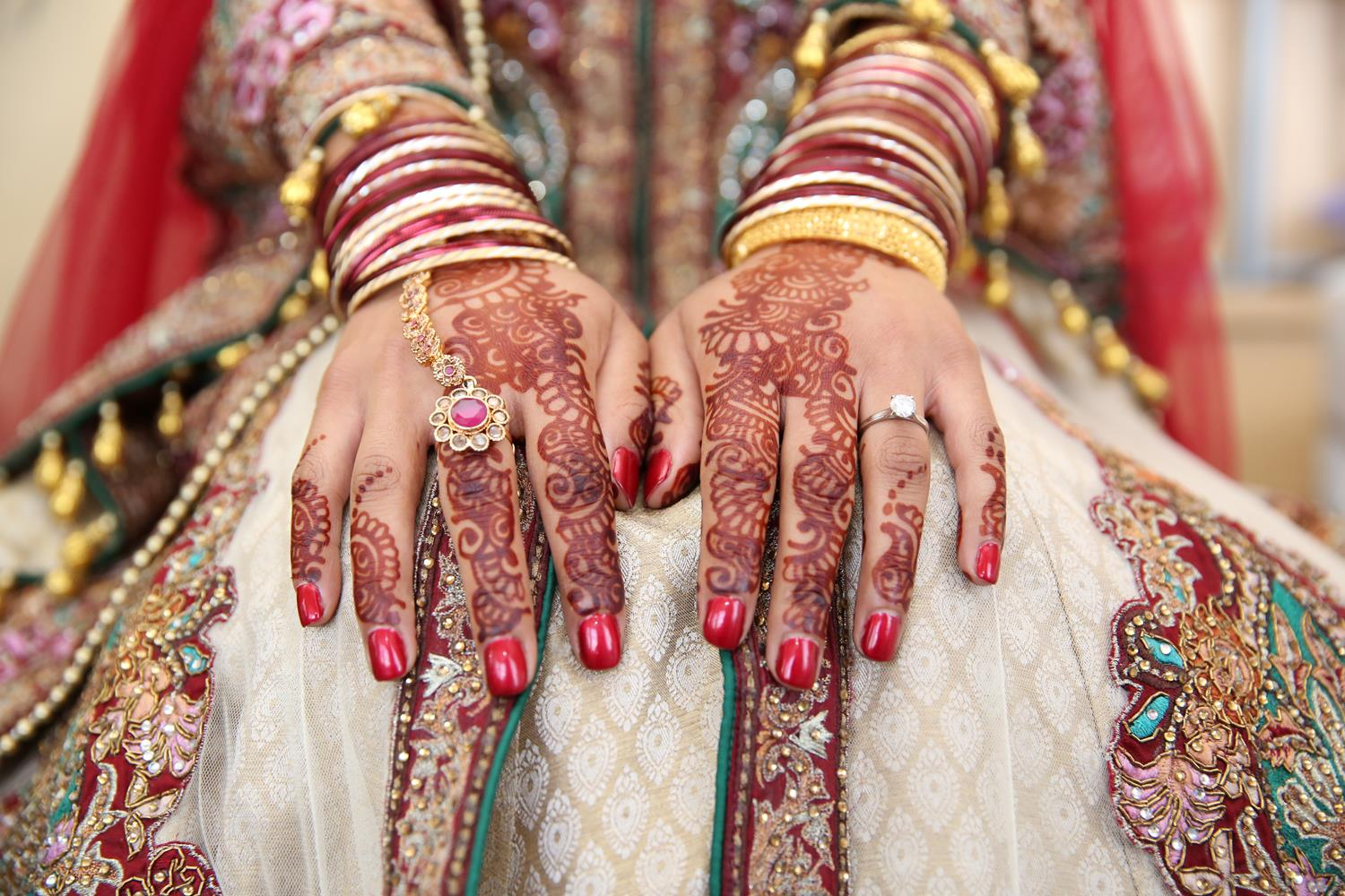 Wedding Photography of Brides hands by MAKSAM Photographer London