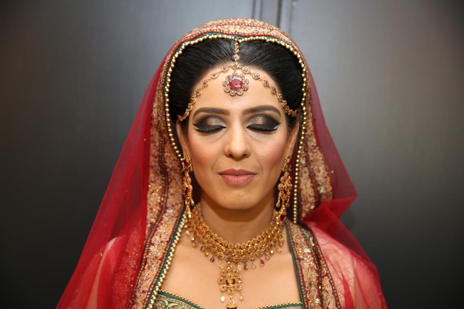Portrait Photography of Bride at her Asian Wedding by MAKSAM Photography London