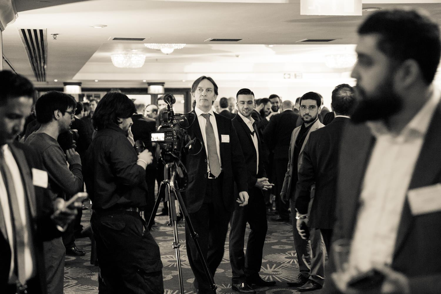 Corporate Photography of business man in Black and White by MAKSAM London Photographer