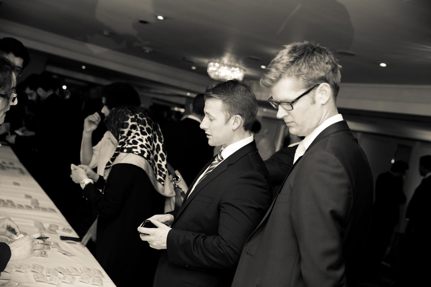 Corporate Photography of a two people in Black and White by MAKSAM London Photographer