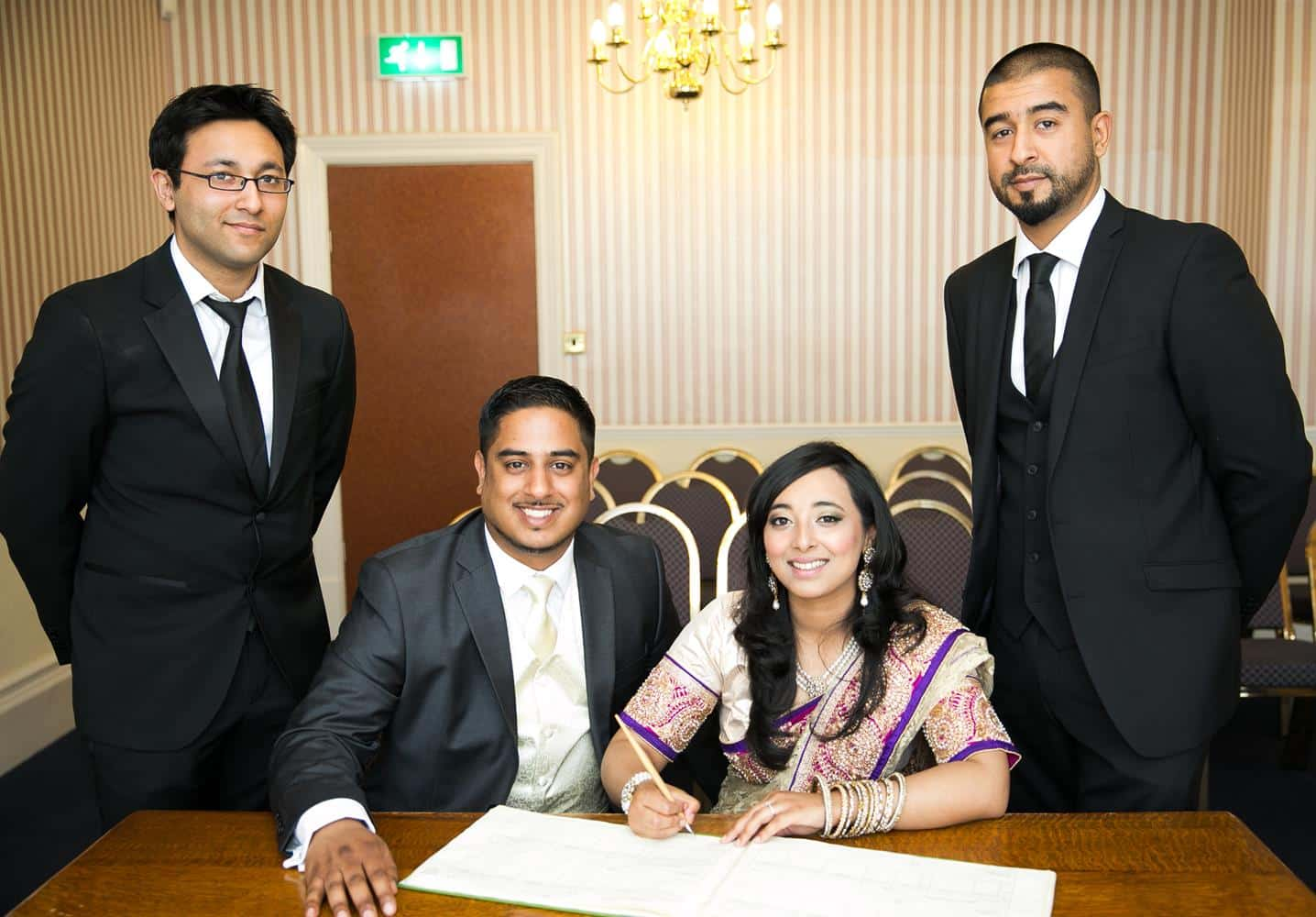 Registry Photography of couple and witnesses by MAKSAM Photography