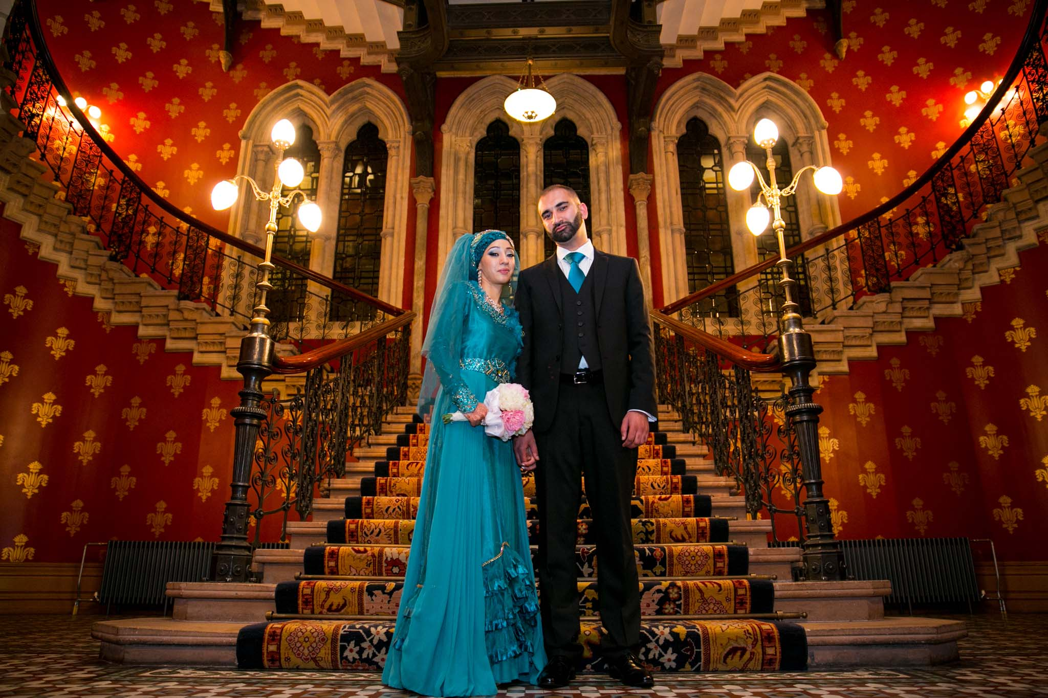 Indian Wedding Photography of Indian Wedding couple by MAKSAM London Photographer at the Renaissance Hotel Kings Cross