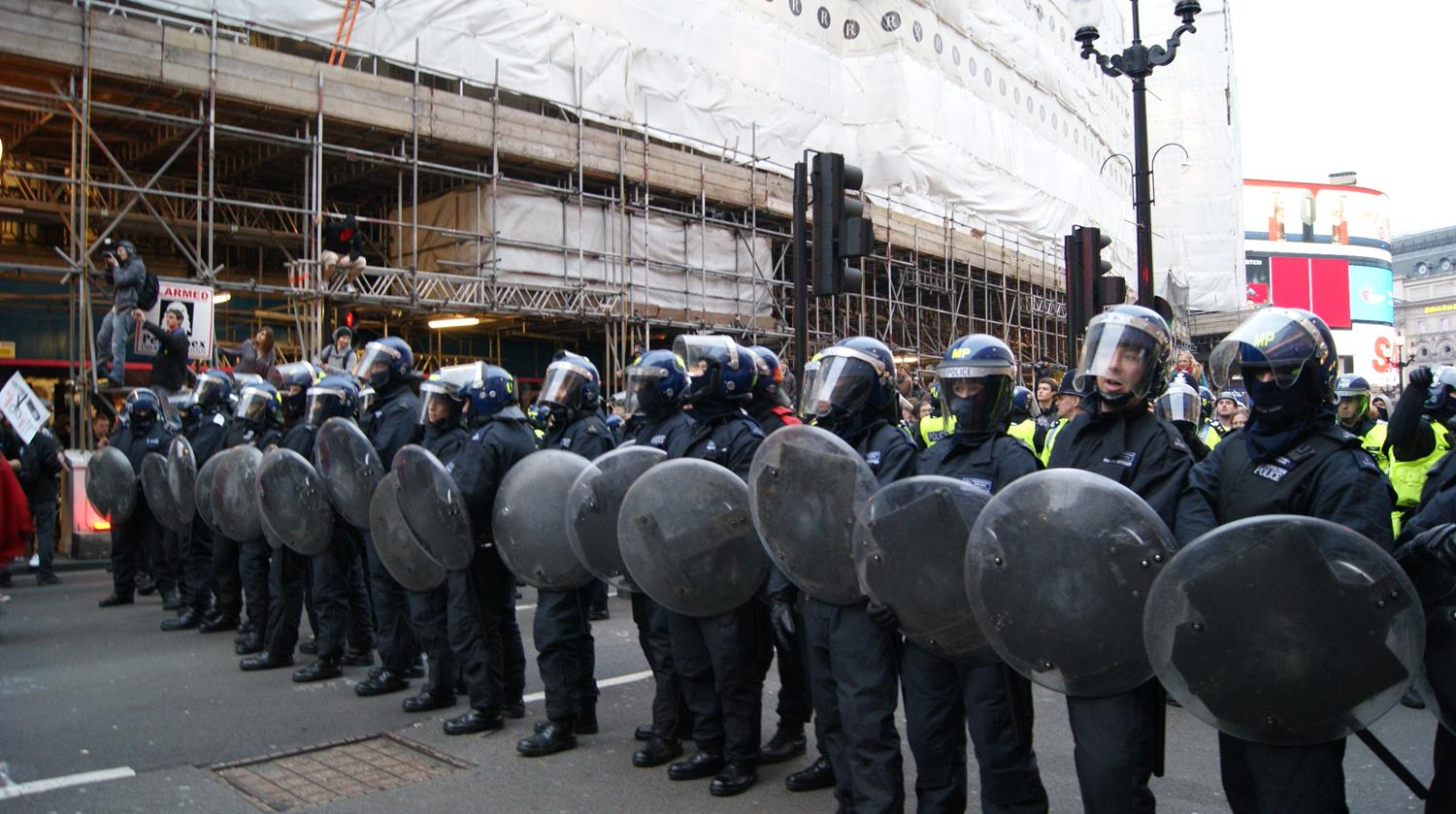 London Photography of Police in Riot Gear by MAKSAM Photography