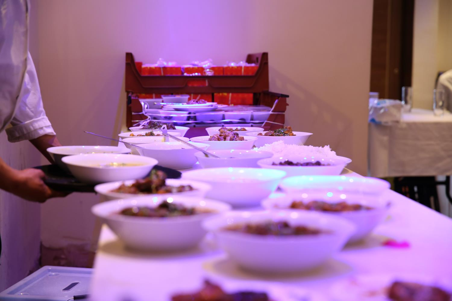 Food at an Indian Wedding Dinner by MAKSAM Photography