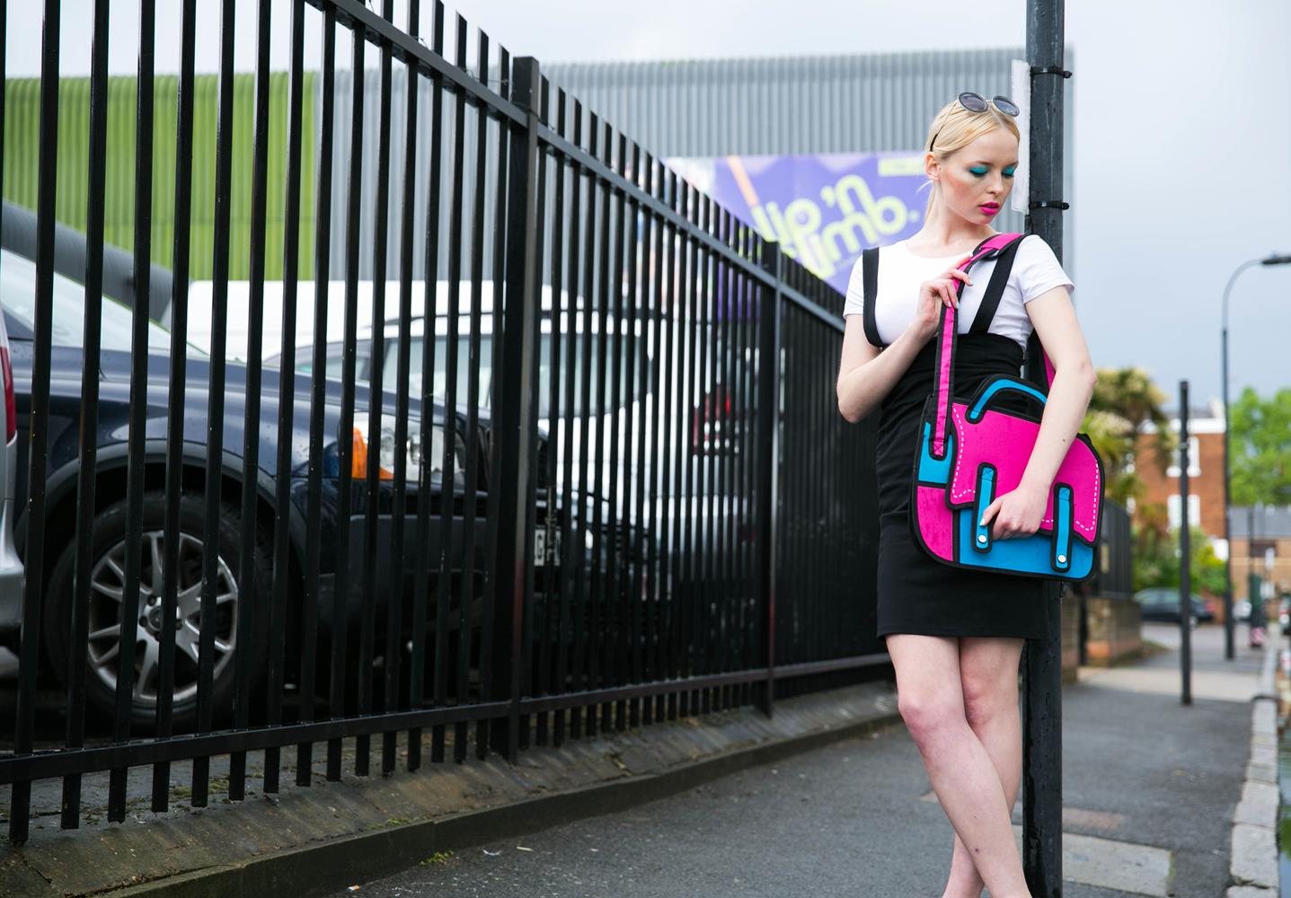 Product photography London of Model with bag by MAKSAM Photography